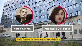 Le couple impliqué dans l'affaire Benjamin griveaux (FRANCEINFO)