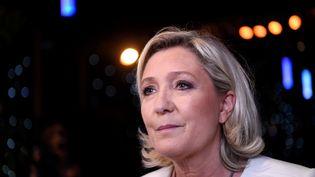 Marine Le Pen au soir des élections européennes, le 26 mai 2019, à Paris. (BERTRAND GUAY / AFP)