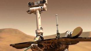 Le robot Opportunity qui avait autrefoisconfirmé la présence d'eau sur Mars, a officiellement était déclaré mort par la Nasa. Son contact a été perdu. (FRANCE 3)