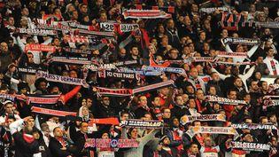 Les supporters du PSG lors du match PSG-OM de Ligue 1, le 8 avril 2012, au Parc des Princes. (ALEXIS REAU / SIPA)