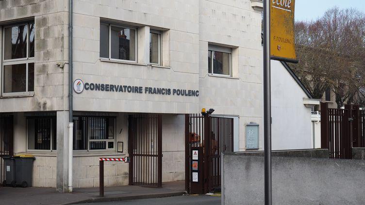 L'entrée du conservatoire de Tours (Indre-et-Loire), le 21 février 2018. (GUILLAUME SOUVANT / AFP)