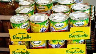 Bonduelle a annoncé, le 15 mai 2015, avoir modifié les fiches produits de ses conserves préparées avec des ingrédients d'origine animale qui ne figuraient pas jusqu'à présent dans la composition (photo d'illustration). (  MAXPPP)