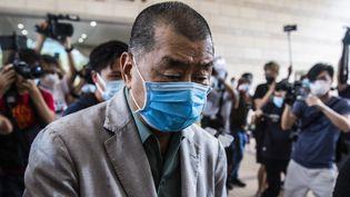 Jimmy Lai devant le tribunal de West Kowloon à Hong Kong, le 3 septembre 2020. (ISAAC LAWRENCE / AFP)