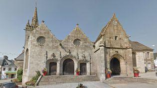 La statue brisée se trouvait dans l'église dePlestin-les-Grèves (Côtes d'Armor). (GOOGLE STREET VIEW)
