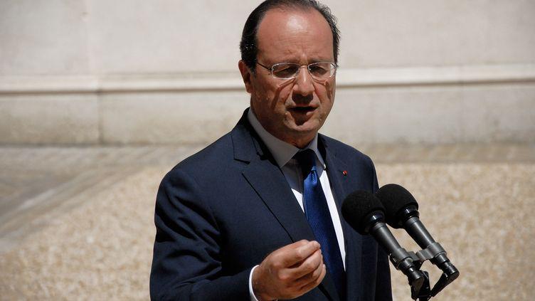 """François Hollande, le 6 juin, à Paris. Vendredi 8 août, l'Elysée à annoncé que la France était """"prête à prendre toute sa part"""" dans la lutte contre les jihadistes en Irak. (CITIZENSIDE/PATRICE PIERROT / CITIZENSIDE.COM)"""