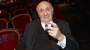 Le réalisateur, acteur et présentateur Pierre Tchernia lors de la 88e Nuit des Cesar, le 22 février 2008. (PATRICK KOVARIK / AFP)