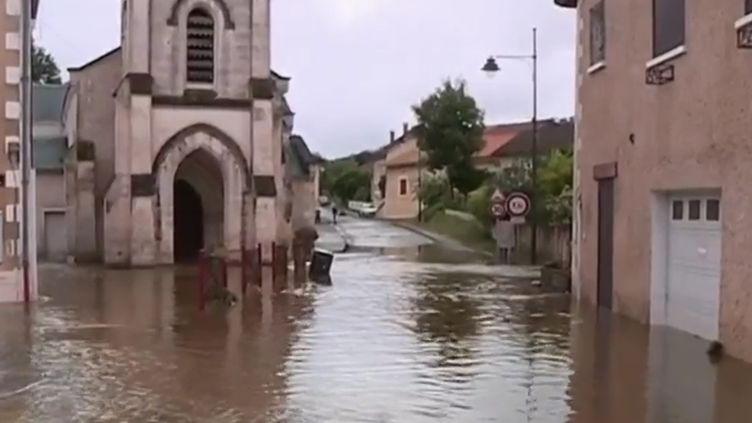 Inondation Montrem, Dordogne, juin 2018. (FRANCE 2)