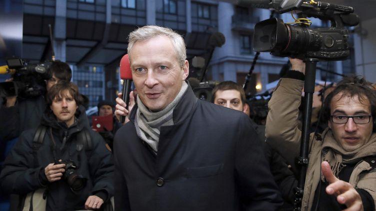 Le député UMP Bruno Le Maire arrive au siège du parti pour le bureau politique, le 3 février 2015, à Paris. (PATRICK KOVARIK / AFP)