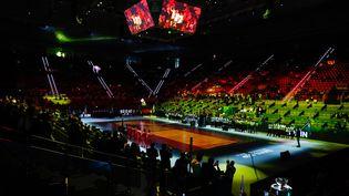 La cérémonie d'ouverture de la Coupe Davis, le 18 novembre 2019, à Madrid (Espagne). (OSCAR BARROSO / SPAINDPPI / AFP)