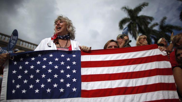 Des militantes républicaines assistent à un meeting à Sarasota(Floride), le 20 septembre 2012. (JIM YOUNG / REUTERS)