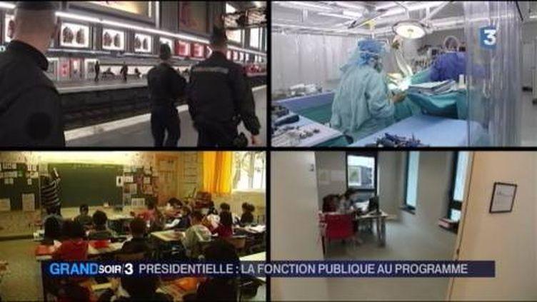 Les fonctionnaires sont au coeur du débat présidentiel. (FRANCE 3)