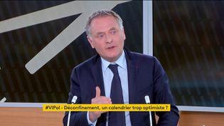 """Le maire LR de La Garennes-Colombe Philippe Juvin était l'invité de """"Votre Instant Politique"""". (FRANCEINFO)"""