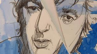 """""""Elsass Blues"""" exposition hommage à Bashung par José Correa à la galerie Art&L'être de Strasbourg  (France 3 / Culturebox / Capture d'écran)"""