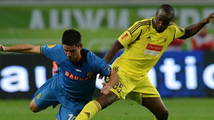 Lassana Diarra sous le maillot de l'Anzhi Makhatchkala (KIRILL KUDRYAVTSEV / AFP)