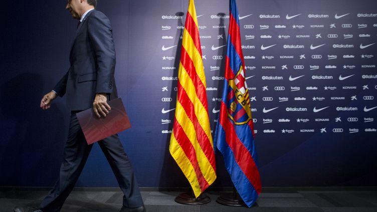Josep Bartomeu, président du FC Barcelone. (JOSEP LAGO / AFP)