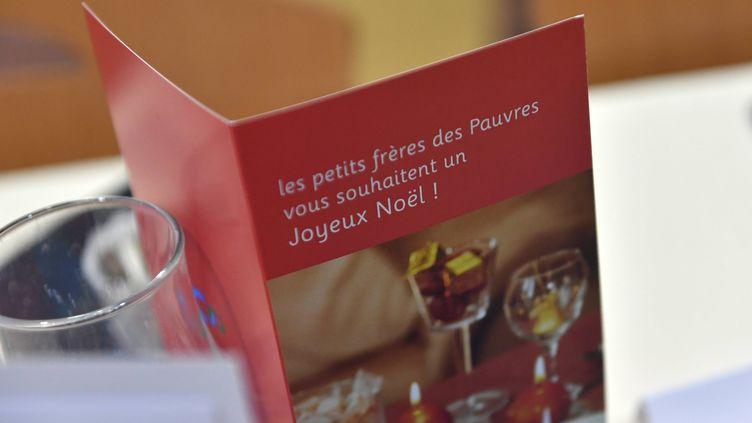 L'association les Petits frères des pauvres organisait un déjeuner de Noël ce vendredi 25 décembre dans ses locaux à Paris. (THOMAS BR?GARDIS / MAXPPP)