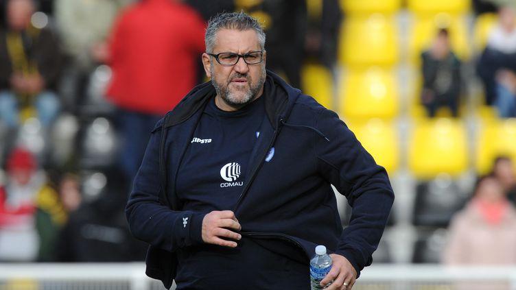 Le manager général de Castres, Christophe Urios (XAVIER LEOTY / AFP)