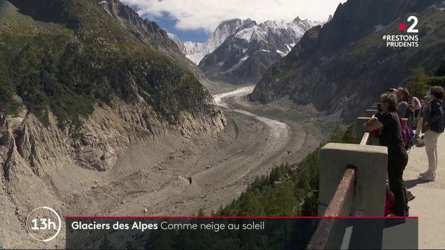 Glaciers des Alpes : la Mer de Glace s'amenuise à cause du réchauffement climatique