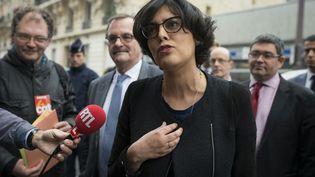 MyriamEl-Khomri, le 12 avril 2016 à Paris. (ELLIOTT VERDIER / AFP)