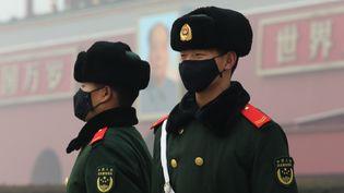 Des soldats chinois à Pékin (Chine), le 1er janvier 2017. (WANG XIN / IMAGINECHINA / AFP)