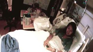 Nina Pham,la première infirmière contaminée par le virus Ebola aux Etats-Unis, apparaît dans une vidéo le 16 octobre 2014, filméeà l'hôpital Texas Health Presbyterian Hospital de Dallas (Etats-Unis). ( YOUTUBE)