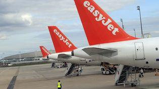 Des avions d'EasyJet.com sur le tarmac de l'aéroportRoissy- Charles de Gaulle en avril 2013 (ALEXANDER KLEIN / AFP)