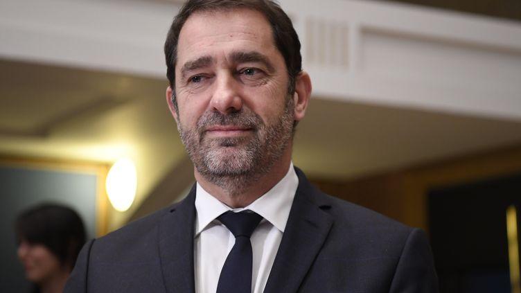 Christophe Castaner au Sénat à Paris, le 16 janvier 2019. (BERTRAND GUAY / AFP)