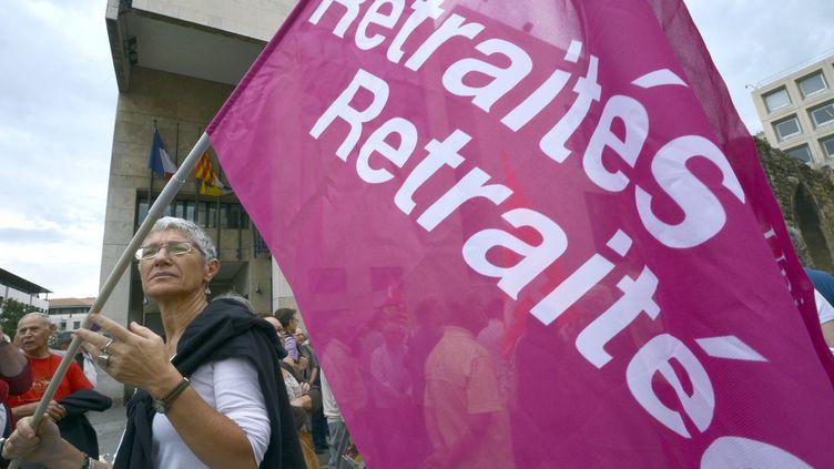 Une manifestation de retraités en octobre 2012, à Marseille (Bouches-du-Rhône). (ANNE-CHRISTINE POUJOULAT / AFP)