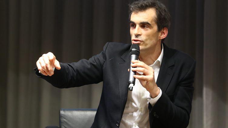 Raphaël Enthoven, philosopheaux Rendez-vous des entrepreneurs à la CCI d'Amiens (Somme), le 12 mars 2018. (MAXPPP)