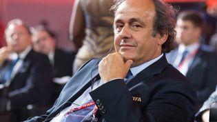Le président de l'UEFA Michel Platini, le 25 juillet 2015 à Saint-Pétersbourg (Russie). (SERGEY GUNEEV / RIA NOVOSTI / AFP)