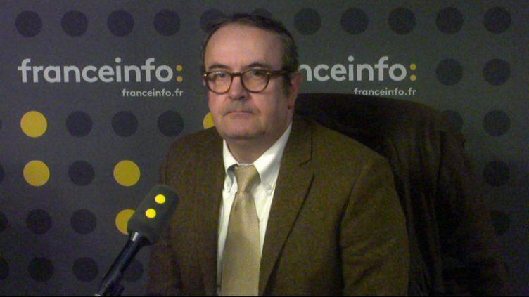 Thierry Guicherd, porte-parole de l'association Taxis de France, invité de franceinfo le 13 décembre. (FRANCEINFO / RADIOFRANCE)