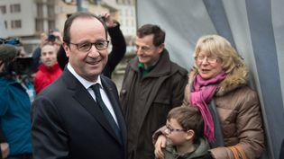 Le président de la République, François Hollande, lors d'une visite à Tulle (Corrèze), le 17 janvier 2015. (CHAMUSSY / SIPA)
