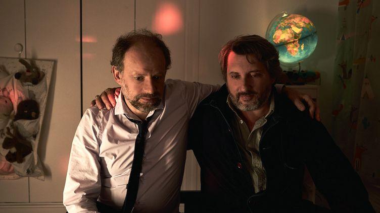 """Denis Podalydès et Bruno Podalydès dans """"Les 2 Alfred"""" deBruno Podalydès (2020). (AFBRILLOT)"""