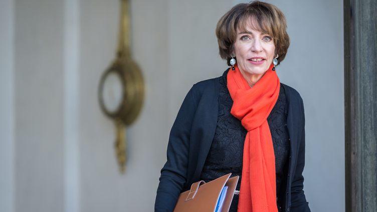 La ministre des Affaires sociales et de la Santé à la sortie du Conseil des ministres, à l'Elysée, le 12 octobre 2016. (MAXPPP)