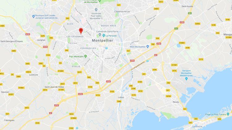 Les faits se sont produits mardi 26 mars, vers 15 heures, dans une résidence située rue de Las Sorbes, à Montpellier (Hérault). (CAPTURE D'ECRAN GOOGLE MAPS / RADIO FRANCE)