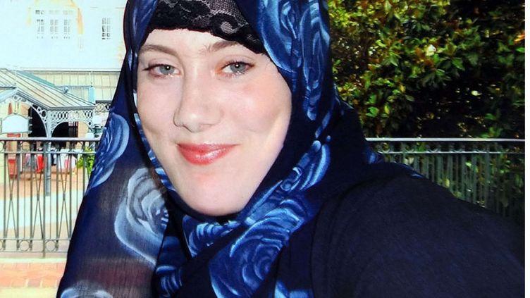 """Cliché diffusé par Interpol de la BritanniqueSamantha Lewthwaite, surnommée la """"veuve blanche"""". Elle est soupçonnée d'avoir participé à l'attaque d'un centre commercial à Nairobi (Kenya) qui a fait au moins 67 morts. (REX / SIPA)"""