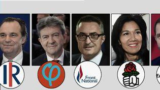 Les prétendants à la victoire aux prochaines élections municipales de 2020, à Marseille (Bouches-du-Rhône). (FRANCE 2)