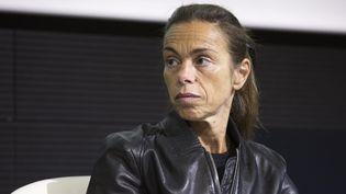 Agnès Saal, alors présidente de l'INA, lors d'un colloque à Paris, le 21 octobre 2014. (MAXPPP)