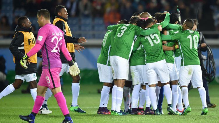 La joie des joueurs du club colombien Atletico Nacional (KAZUHIRO NOGI / AFP)