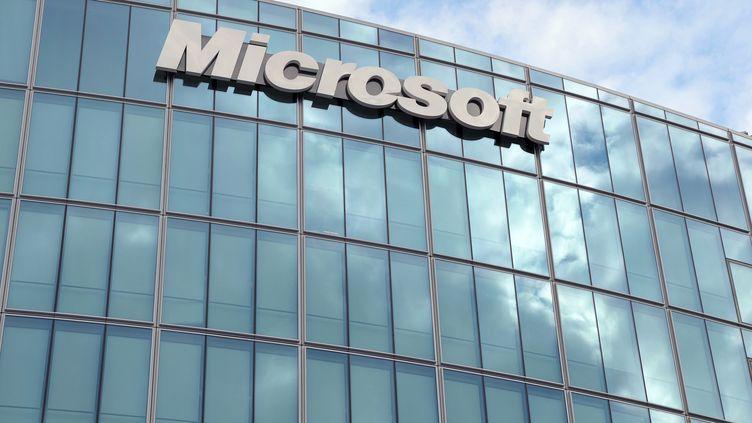 Le siège de Microsoft France à Paris, le 6 octobre 2009. (ERIC PIERMONT / AFP)