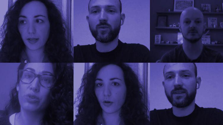 """Quatre victimes de la """"Ligue du LOL"""" ont témoigné auprès de franceinfo. (JESSICA KOMGUEN / FRANCEINFO)"""
