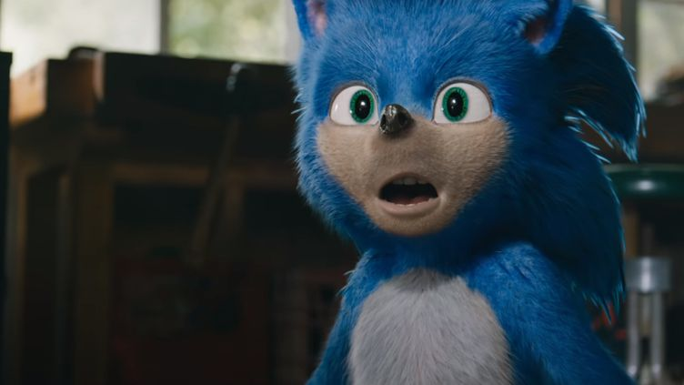 """Sonic le hérisson, célèbre héros de jeux vidéo, ici dans la bande-annonce du film """"Sonic the Hedgehog"""" dévoilée le 30 avril sur YouTube. (PARAMOUNT PICTURES / YOUTUBE)"""
