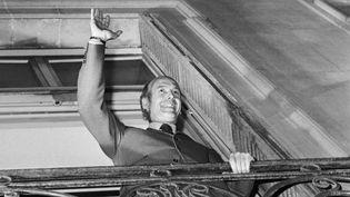 Valéry Giscard d'Estaing, tout juste élu président de la République, le 20 mai 1974 à Paris. (AFP)