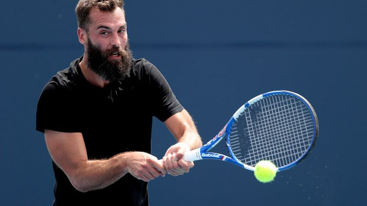 Benoît Paire au Tournoi de Miami, le 27 mars 2021. (MATTHEW STOCKMAN / GETTY IMAGES NORTH AMERICA)