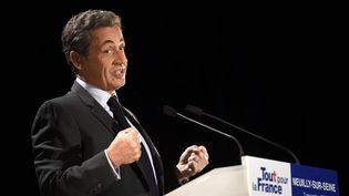 Nicolas Sarkozy enmeeting à Neuilly-sur-Seine (Hauts-de-Seine), le 7 novembre 2016. (ERIC FEFERBERG / AFP)