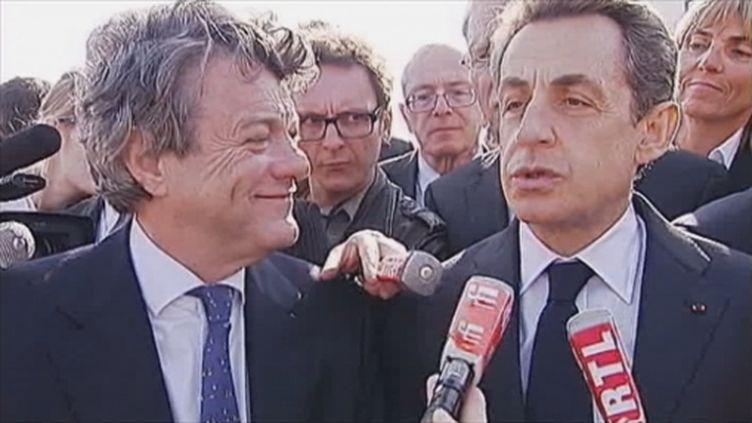 N.Sarkozy et J.L Borloo à Valenciennes le 23 mars 2012 (FTV)
