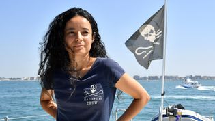 Lamya Essemlali, présidente de Sea Shepherd France, en août 2017. (BERTRAND LANGLOIS / AFP)