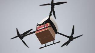 La Poste a annoncé la mise en place d'une ligne commerciale de livraison par drone dans le Var, jeudi 15 décembre 2016. (CHEN FEIBO / IMAGINECHINA / AFP)