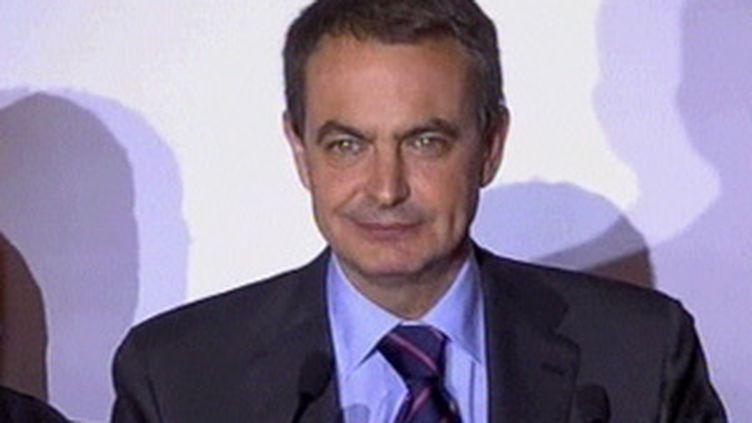 Jose Luis Zapatero , le chef du gouvernement espagnol. (France 2)