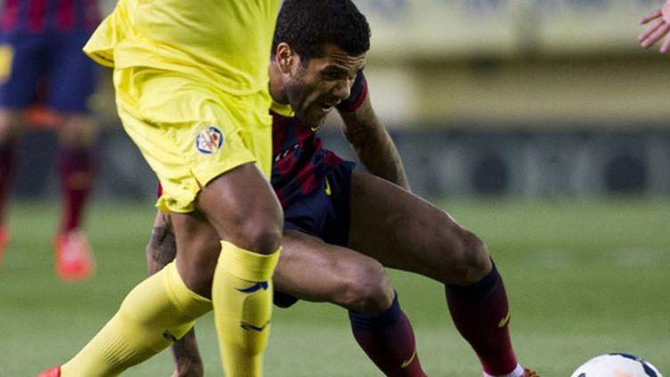 Dani Alves lors du match de Barcelone à Villareal